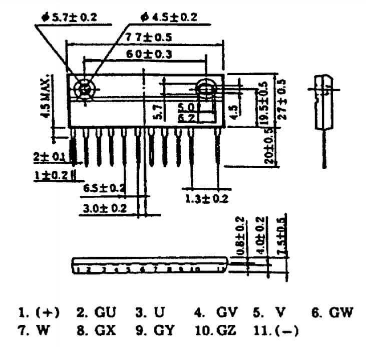Sơ đồ chân MP6753