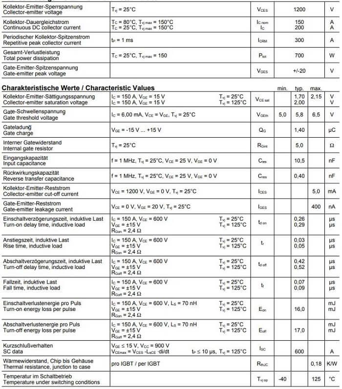 FS150R12KE3-datasheet